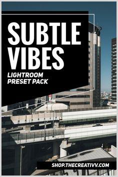 Subtle Vibes Lightroom Preset Pack from The Creativv Shop