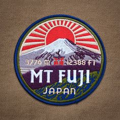Mt Fuji Patch by ExpeditionCollect on Etsy