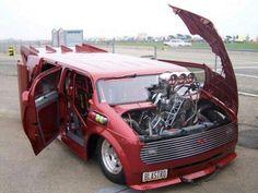Custom VANS natural BABES & other bad ass transportation. Chevy Astro Van, Chevrolet Astro, Customised Vans, Custom Vans, Funny Car Drag Racing, Funny Cars, Vanz, Cool Vans, Weird Cars