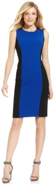 Calvin Klein black and blue dress