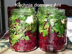 Feta Salad, Kitchen Helper, Polish Recipes, Polish Food, Natural Vitamins, Fermented Foods, Canning Recipes, Food Design, Yummy Snacks