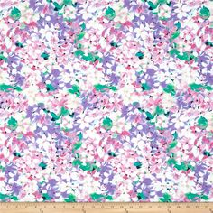 Michael Miller Spring Fling Delia Lavender from @fabricdotcom  Designed for Michael Miller Fabrics, this cotton print fabric is perfect for quilting, apparel and home decor accents. Colors include green, pink, purple, white and black.