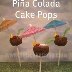 pina colada cakepops