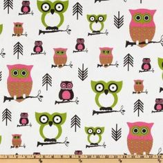 Premier Prints Hooty Owl Candy Pink/Chartreuse Fabric By The Yard Owl Kitchen Decor, Kitchen Decor Themes, Kitchen Ideas, Giraffe Fabric, Fabric Birds, Green Pillow Covers, Green Pillows, Accent Pillows, Duvet Covers