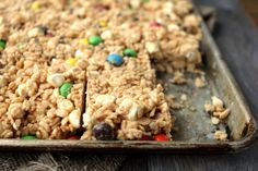 LOADED AVALANCHE BARS This recipe is the IDEAL super quick, out-of-the-ordinary, no bake treat.