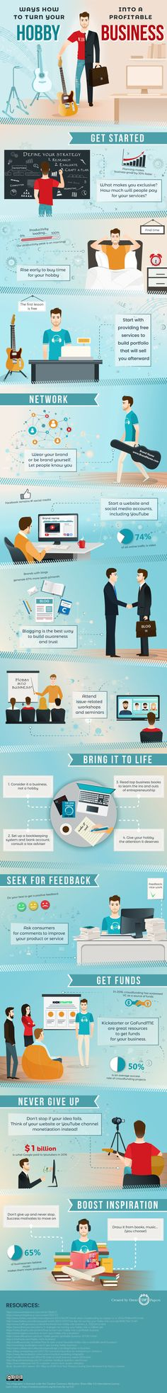 9 Tips to Turn Your Hobby into a Profitable #Business #Infographic #Startup