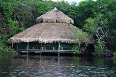 O restaurante, especializado tanto em cozinha local como internacional, tem uma deslumbrante vista para o lago. A comunhão do hotel com a natureza é coroada pela presença constante de macacos, araras e tucanos.
