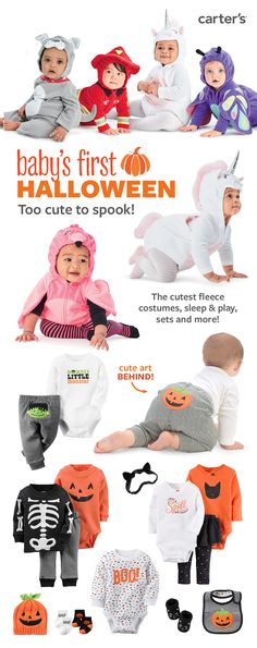 Sweet treat. Baby's first Halloween in the cutest fleece costumes. More spooky cute styles: sleep & play, sets and more. Shop all Halloween costumes and sets now.