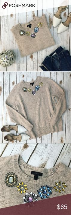 GORGEOUS J.Crew sequined sweater Gorgeous J.Crew sequined sweater perfect for fall in size XL but it could be worn as oversized S or M, please see pics with measurements  J. Crew Sweaters