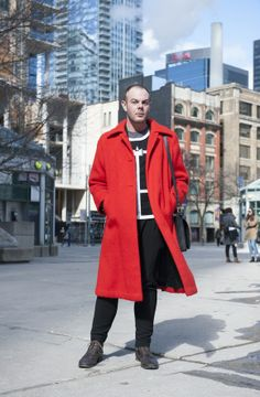 Statement Coats at Toronto Fashion Week: Daniel