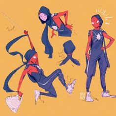 Got around to drawing my Fun doodles between deadlines 🕸🕸🕷 Drawing Cartoon Characters, Character Drawing, Comic Character, Cartoon Drawings, Cartoon Art, Character Design, Easy Drawings, Spider Art, Spider Verse