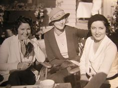 Silent movie stars in retirement in the Norma Talmadge is on the right Norma Talmadge, Silent Screen Stars, Uncle Toms Cabin, Eternal Flame, The Big Hit, Three Daughters, Young Actresses, Going Out Of Business, Film Industry