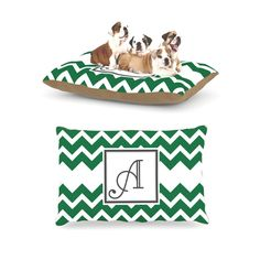 Kess InHouse Chevron Green Fleece Dog Bed ** Discover this special dog product, click the image : Pet dog bedding