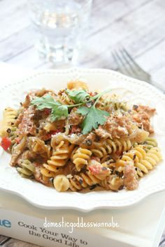 One-Pot Creamy Fusilli With Spicy Italian Sausage And Caramelized Onion
