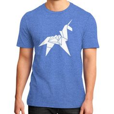 Origami Unicorn District T-Shirt (on man)