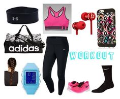 """Workout"" by rileyk1007 ❤ liked on Polyvore featuring NIKE, Beats by Dr. Dre, Under Armour, adidas and Reebok"