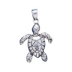 Sea Turtle Sterling Silver Pendant WP018
