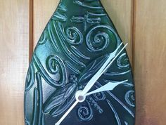Clock, Butterfly Bottle Clock Glass Art, Upcycle, Clock, Butterfly, Bottle, Creative, Artist, Watch, Upcycling