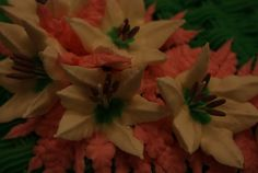 Lilies from the key lime cake.