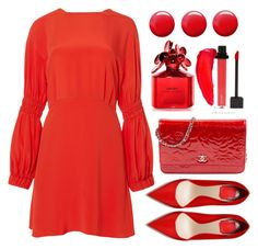 """""""Red"""" by amchavesj-1 ❤ liked on Polyvore featuring TIBI, Chanel, Marc Jacobs, Topshop and red"""