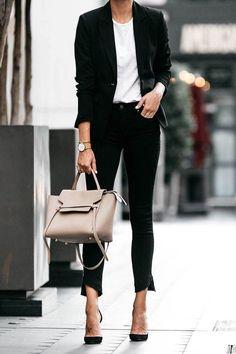 Celine Belt Bag street style outfit / Designer work bag / street style fashion / work tote bag #workwear #celine #fashion #womensfashion #streetstyle #ootd #style #handbag #designerbag #luxury / Pinterest: @fromluxewithlove