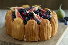 Eric Lanlard's winter fruits and madeleines charlotte cake recipe