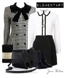 """""""Elementray's Joan Watson Style"""" by starspy ❤ liked on Polyvore featuring Alice + Olivia, Zimmermann, Falke, Zara Taylor, Mulberry, modern, Elementary, sherlockholmes, detective and characterfashion"""