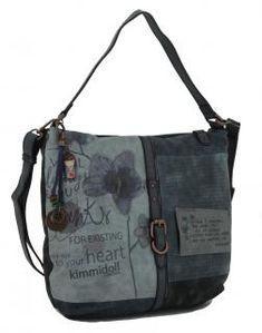 kimmidoll Hobo Schultertasche blau Blume Stickerei - Bags & more Diaper Bag, Bags, Style, Fashion, Blue Flowers, Handbags, Swag, Moda, Fashion Styles