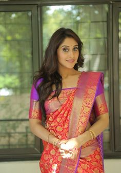 Tollywood Actress Regina Cassandra At Shopping Mall Launch In Red Saree South Indian Bride, South Indian Actress, Bollywood Celebrities, Bollywood Actress, Pink Half Sarees, Indian Bridal Sarees, Regina Cassandra, Red Saree, Saree Blouse