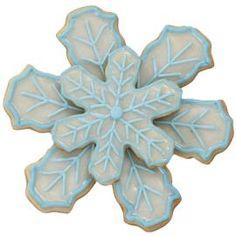 Snowflake cookies frozen party