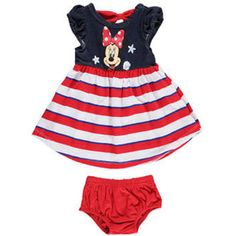 """Disney Minnie Mouse Baby Girls' """"Seashells"""" Dress with Diaper Cover"""