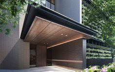 Entrance Design, House Entrance, Facade Design, Exterior Design, Entrance Gates, Main Entrance, Canopy Architecture, Facade Architecture, Amazing Architecture