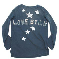 DENIM DUNGAREE(デニム&ダンガリー):ビンテージテンジク LONE STAR 9分袖ロンT 4NV紺 の通販【ブランド子供服のミリバール】