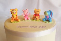 Winnie the Pooh Cake Topper by ForeverSweetfavors on Etsy, $25.00