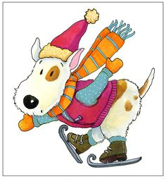§§§ : ice skating dog : Deb Melmon