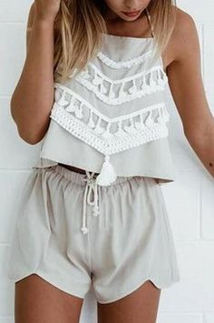 Lace Fashion Strappy Halter Two-Piece