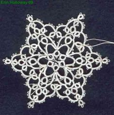 erin's snowflake tatting pattern ... with instructions as well as chart ... *p**i*