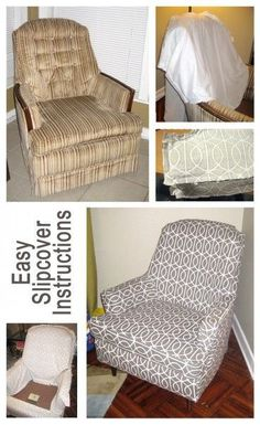 Slipcover Instructions  Great fix up for your older furniture – or for a piece that just doesn't go with your current decor.