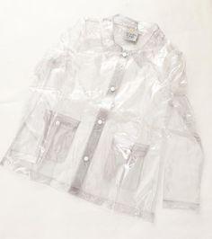Transparent rainjacket, Golden Ponies