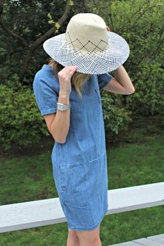 Blue ombre straw hat by Brooklyn Hat Co Denim Trends 766fc51f1404