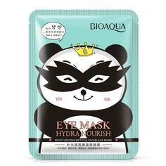 BIOAQUA meticulosa Hidratante suave máscara de ojos negro Se Desvanecen Ojeras Ojo Bolsa Húmeda Antiarrugas Hidratante Alegrar Los Ojos Máscara
