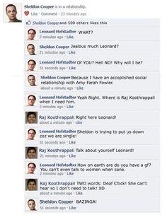 Facebook Relationship Win - The Big Bang Theory
