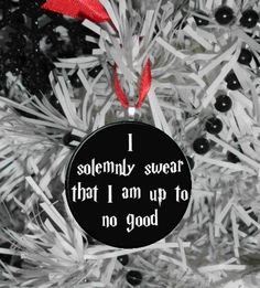 Harry Potter I Swear I am up to No good Ornament by MayoBass, $6.00