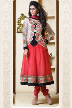 Eye-caching Red Color Anarkali Salwar Suit