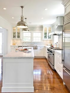 All white--wood floor makes a big difference