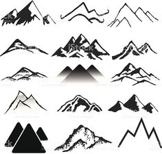 mountains mountain drawing sketch tattoo vector landscapes simple drawings range sketches logos paintings istockphoto illustration