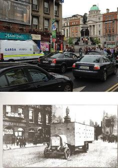 Dublin 1916 Then & Now - Pictures from the 1916 Rising Ireland Pictures, Old Pictures, Old Photos, Ireland 1916, Then And Now Pictures, Dublin Street, Erin Go Bragh, Irish Roots, The Far Side