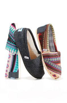 TOMS 'Classic - Kilim' Slip-On. Perfect LA winter shoe.
