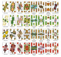 A full set of Hungarian playing card