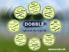 Naučte sa vybrané slová pomocou hry DOBBLE. Personalized Items